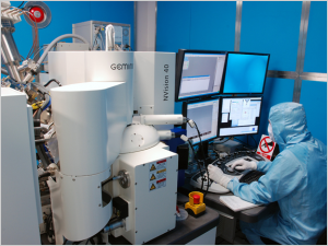 The Focussed Ion Beam system from Zeiss