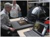 Philip Basford watching a Rembrandt painting being imaged by the RTI system