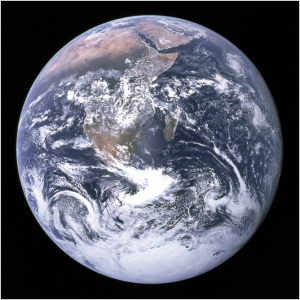 The Earth, photographed by the crew of Apollo 17