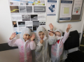 Cleanroom-ready! Children dress up in their own 'bunnysuits'