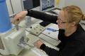 One of the ICON students, Theresa Schötz (University of Southampton), working in a laboratory in Japan while undertaking preliminary studies relevant to her current project.