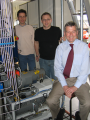 The researchers with the Innos epitaxy system