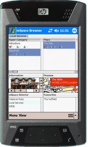 mspace mobile running on a pda